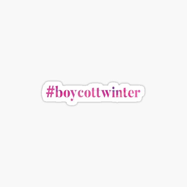 #boycottwinter Pink Sticker