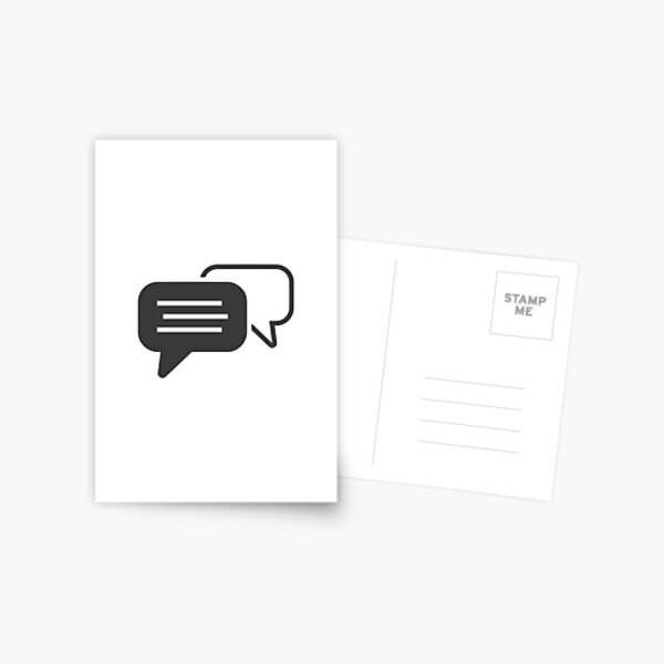 Messaging symbol Postcard