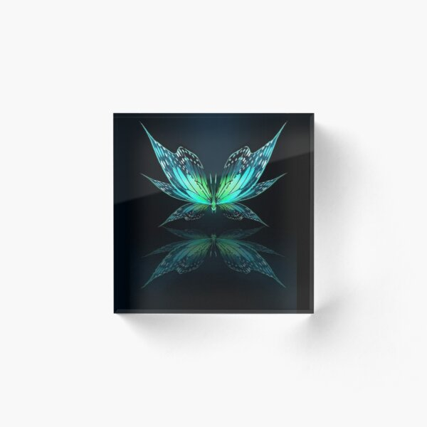 Butterfly design Acrylic Block