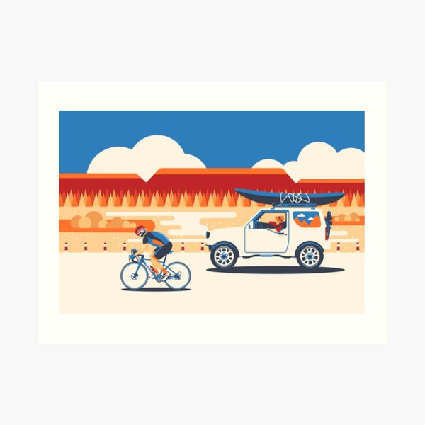 Outing on 6 wheels Art Print