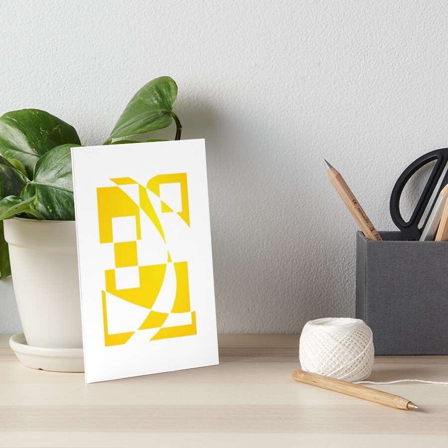 Window & Light, Abstract (Designed by Just Stories) Art Board Print