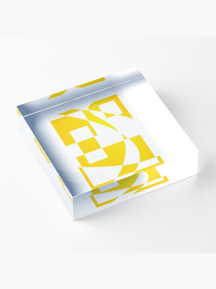 Alternate view of Window & Light, Abstract (Designed by Just Stories) Acrylic Block