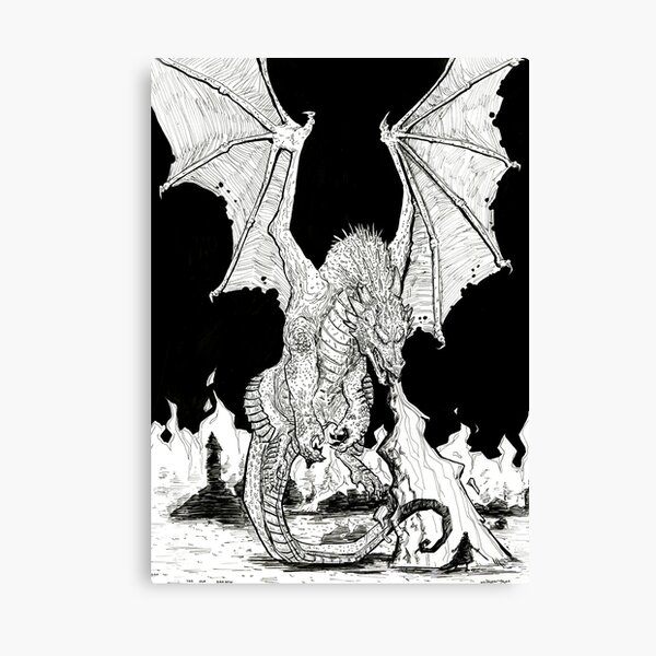 The Old Dragon Canvas Print