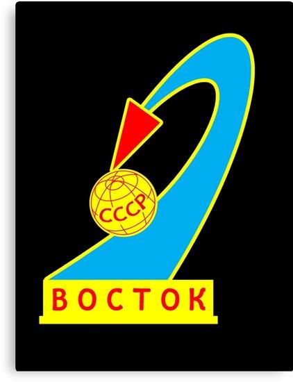 Quot Vostok 1 Space Mission Patch Quot Canvas Prints By Samuel