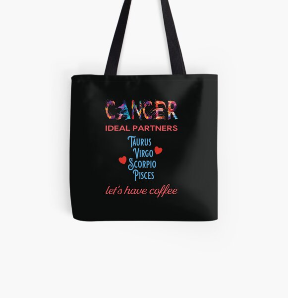 Cancer Ideal Partners All Over Print Tote Bag