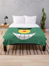 Plankton Evil And Funny Laugh Throw Blanket