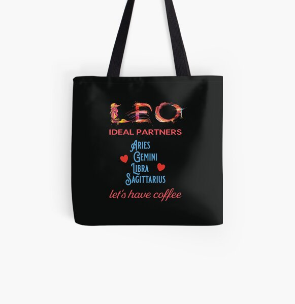 Leo Ideal Partners All Over Print Tote Bag