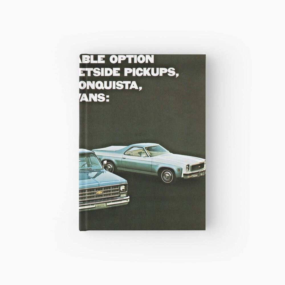 Chevrolet Truck Bonanza Program Models advertisement 1977 Hardcover Journal
