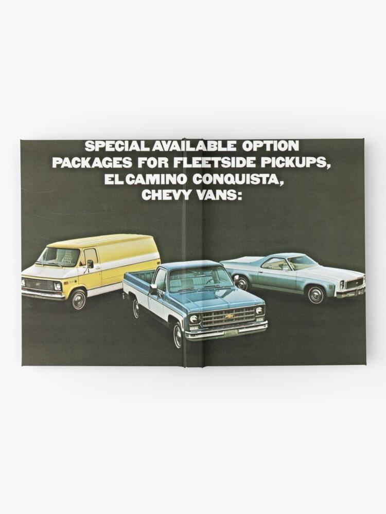 Alternate view of Chevrolet Truck Bonanza Program Models advertisement 1977 Hardcover Journal