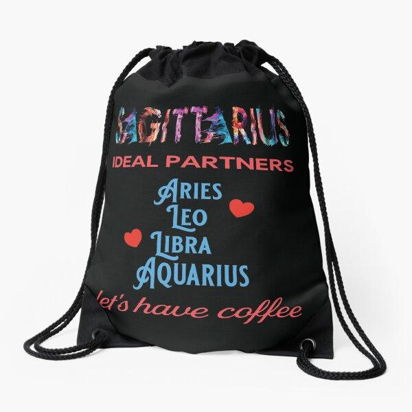Sagittarius Ideal Partners Drawstring Bag