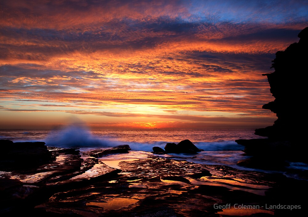 Fire Water by Geoff  Coleman - Landscapes