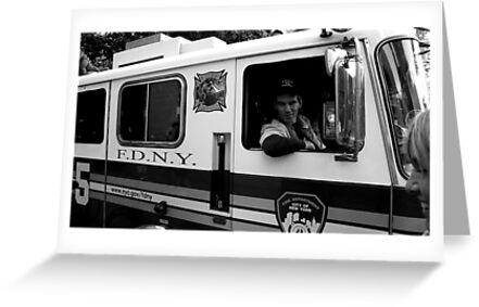 Fireman in BW by bertipictures
