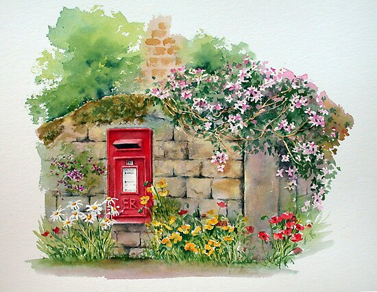 Village Postbox by Ann Mortimer