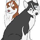 Husky Puppies  by rmcbuckeye