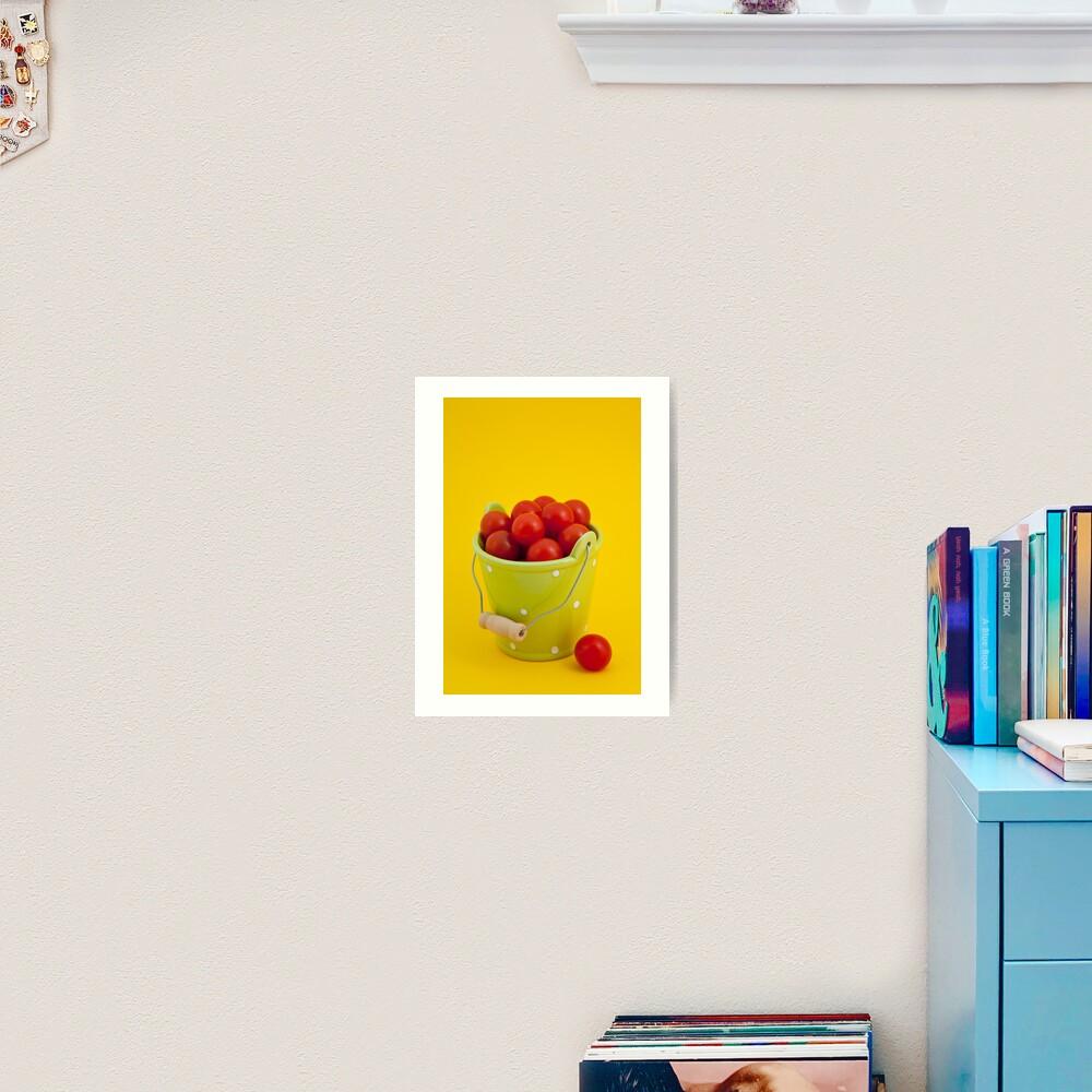 Bucket of cherry tomatoes Art Print