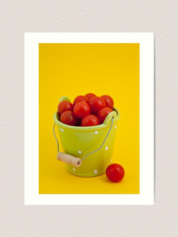 Alternate view of Bucket of cherry tomatoes Art Print
