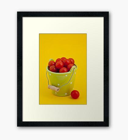 Bucket of cherry tomatoes Framed Print