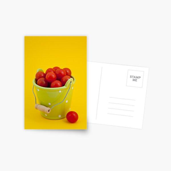 Bucket of cherry tomatoes Postcard