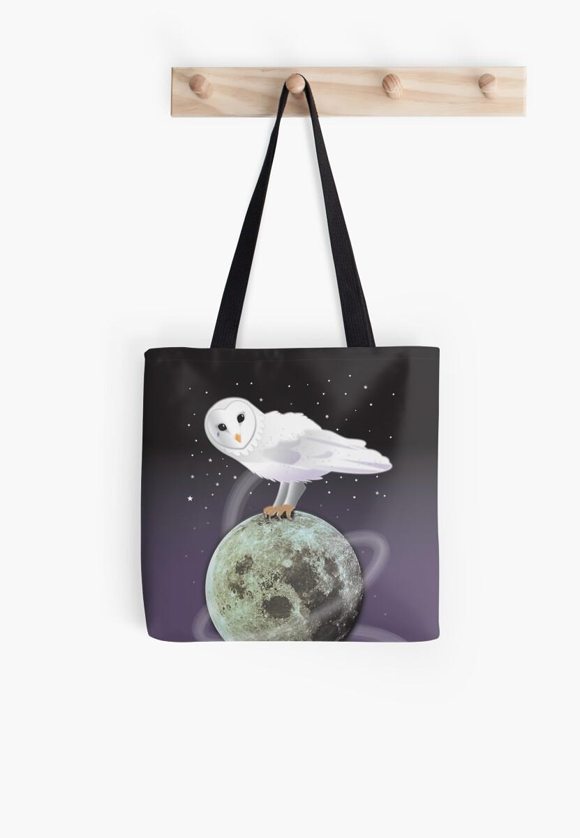 Moonlit Snowy Owl design by jazzydevil