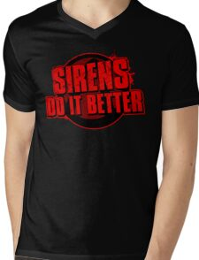 Sirens Do It Better (red) Mens V-Neck T-Shirt