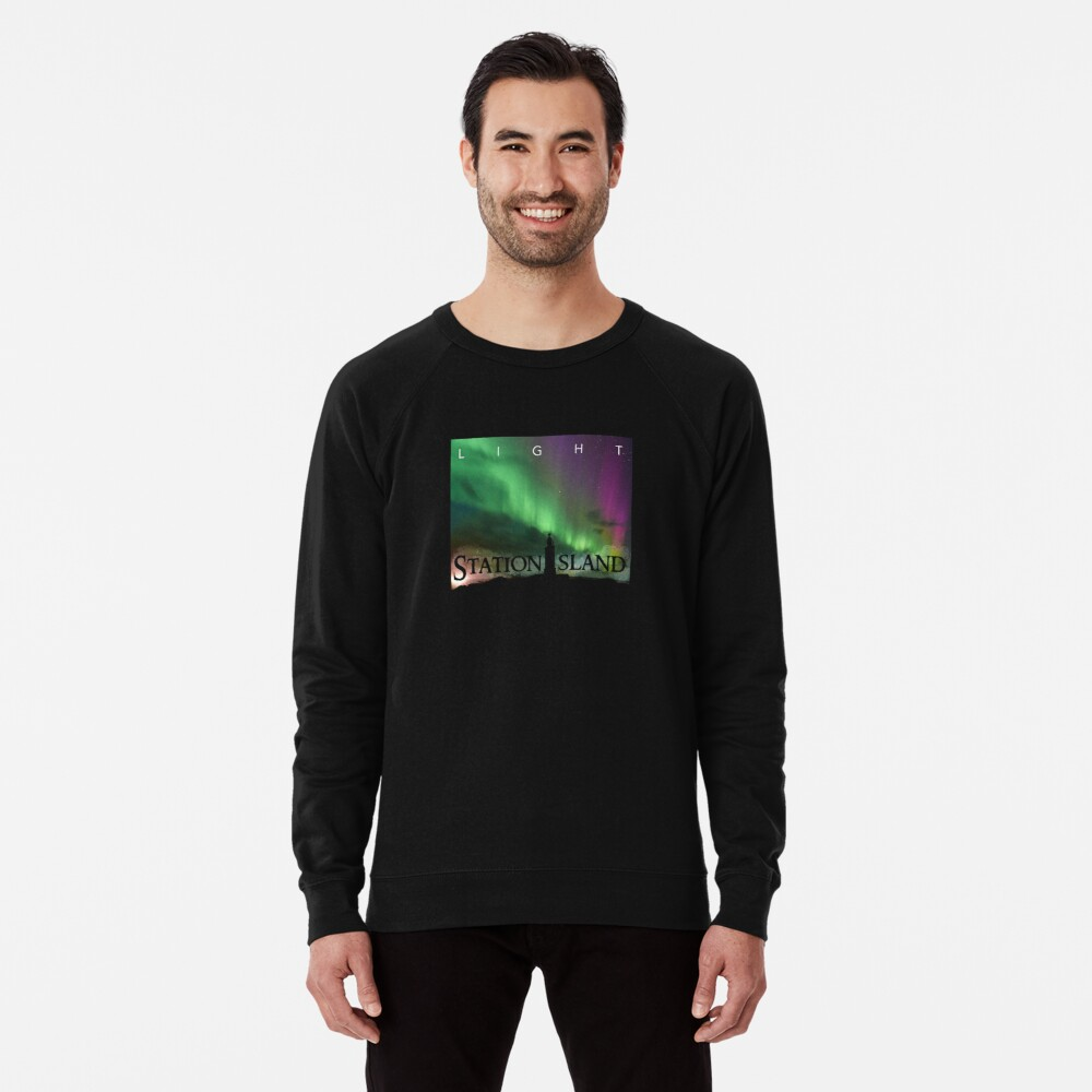 Station Island - Light Album Cover Lightweight Sweatshirt