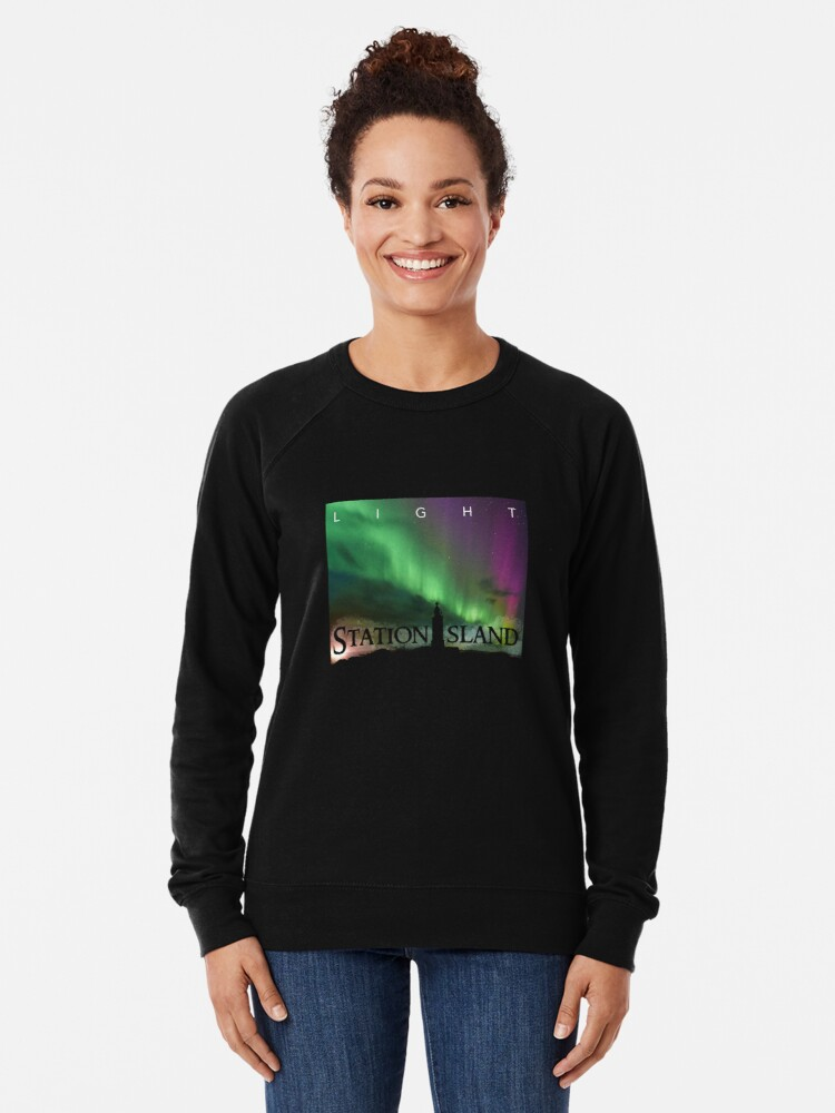 Alternate view of Station Island - Light Album Cover Lightweight Sweatshirt
