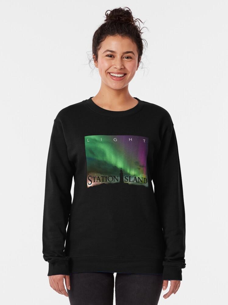 Alternate view of Station Island - Light Album Cover Pullover Sweatshirt