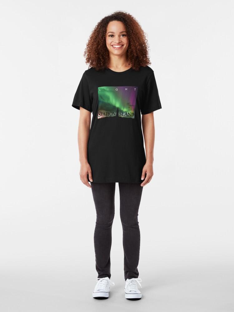 Alternate view of Station Island - Light Album Cover Slim Fit T-Shirt