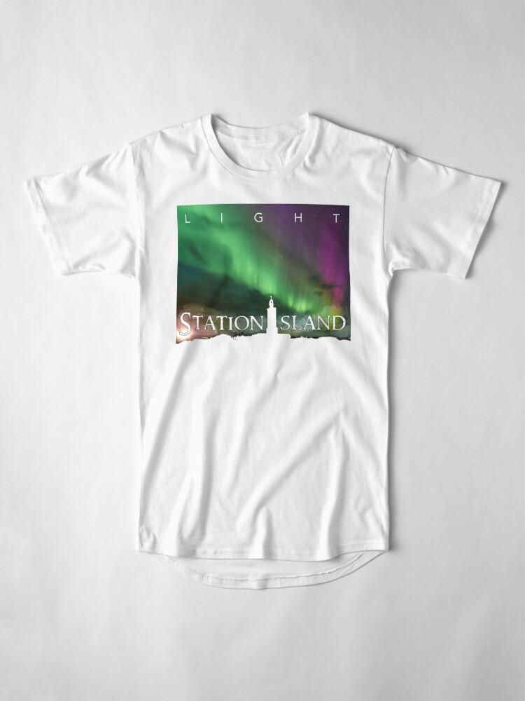 Alternate view of Station Island - Light Album Cover Long T-Shirt