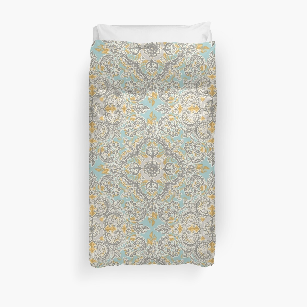 Quot Gypsy Floral In Soft Neutrals Grey Amp Yellow On Sage