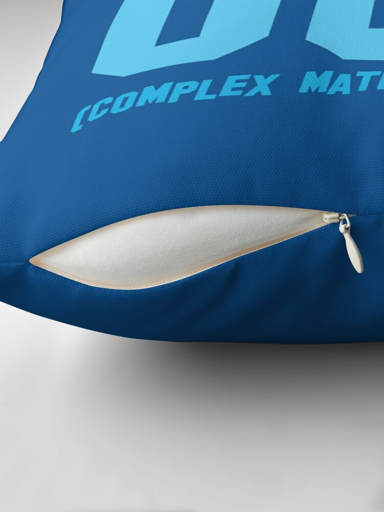 Alternate view of I WORK OUT (complex maths equations) Throw Pillow