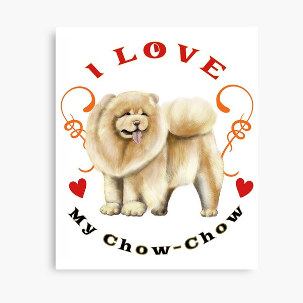 Chow Chow Cute Dog Watercolor Print Chow Chow Art Gift Pet Dog Love Doglover