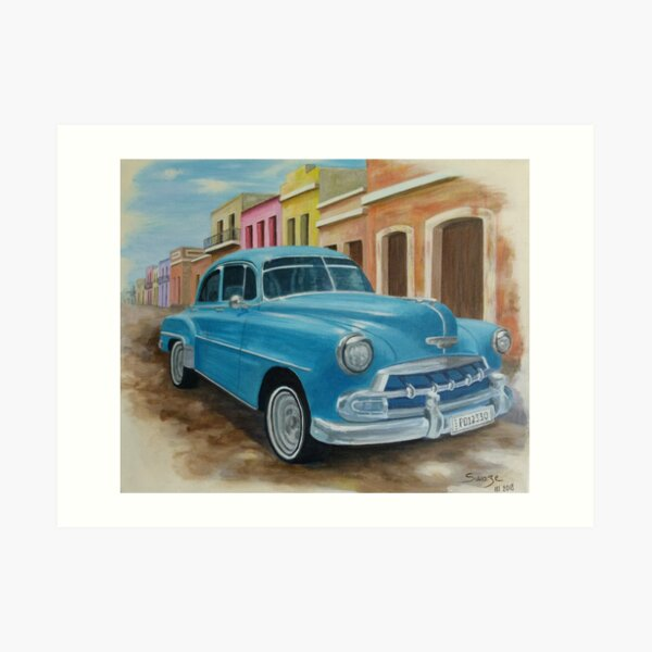 Cuban Chevrolet Art Print
