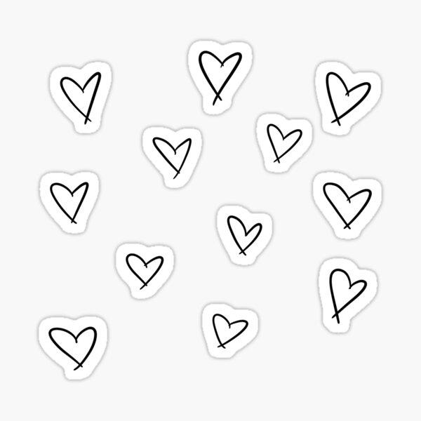 Etiqueta engomada del doodle del corazón Pegatina