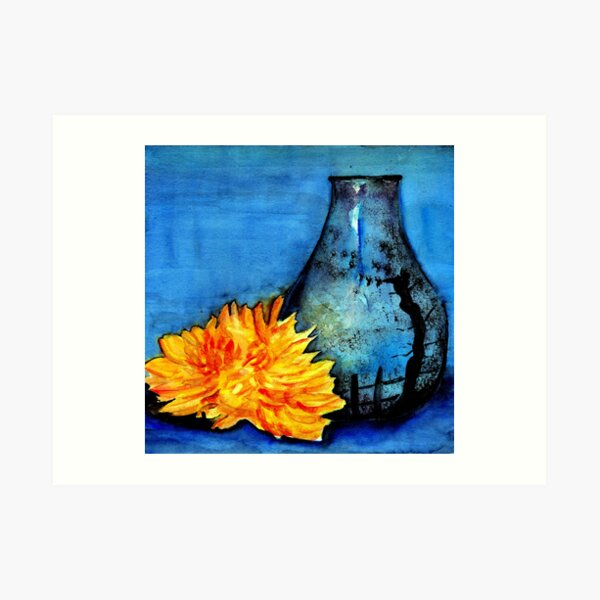 blue pot Art Print