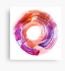 Abstract Watercolor Stroke  Metal Print