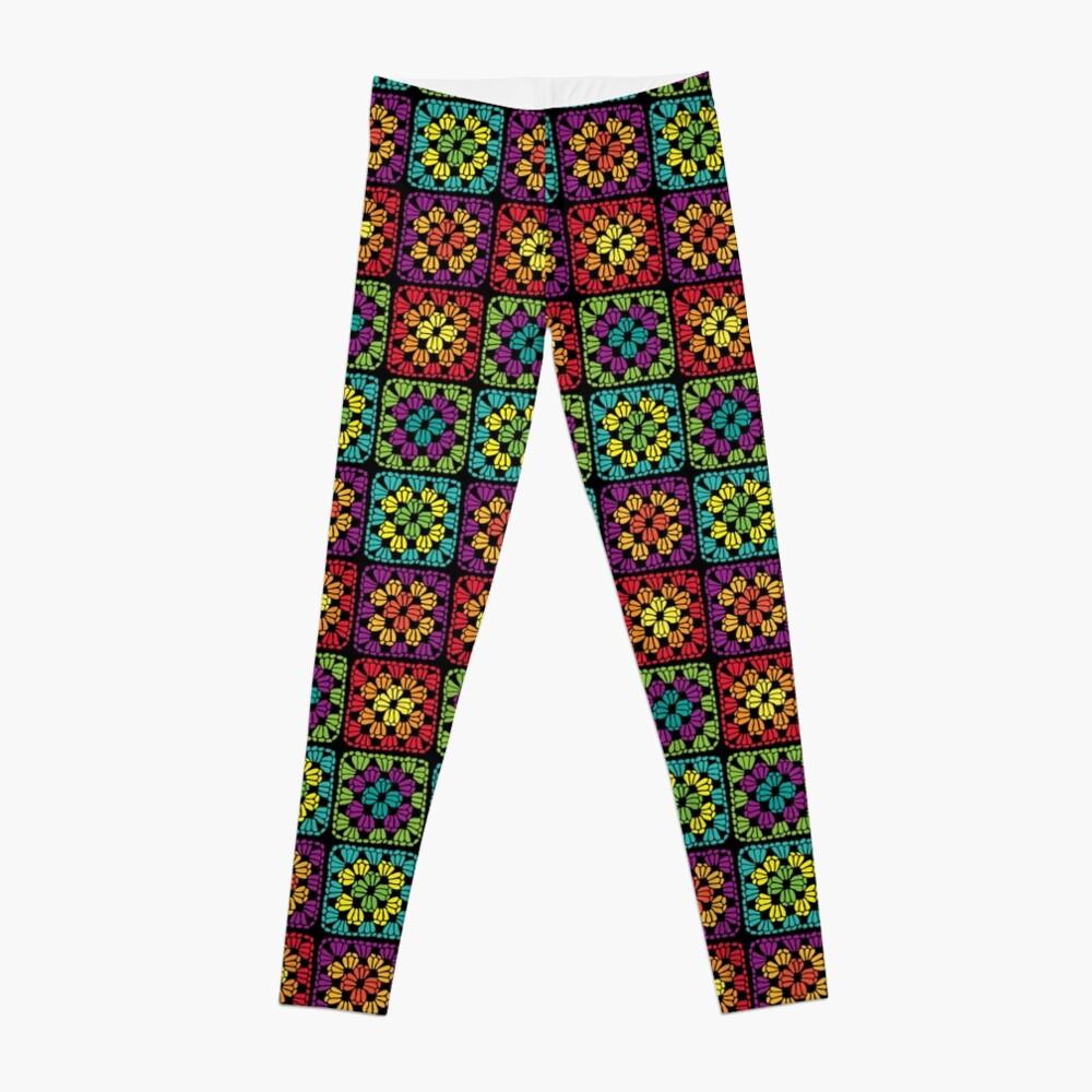 Crochet Granny Square Yarn Pattern Leggings