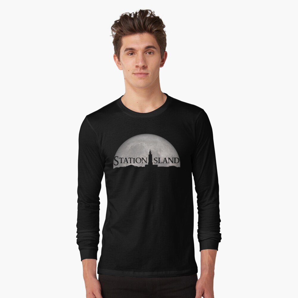 Station Island - Moon Design Long Sleeve T-Shirt