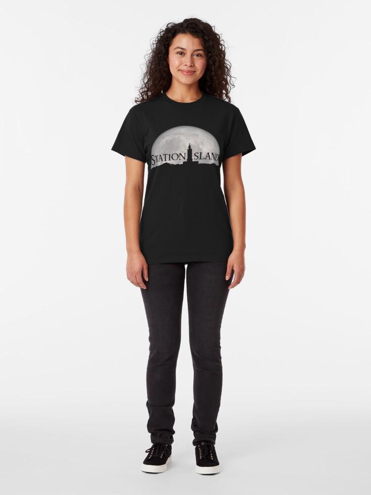 Alternate view of Station Island - Moon Design Classic T-Shirt