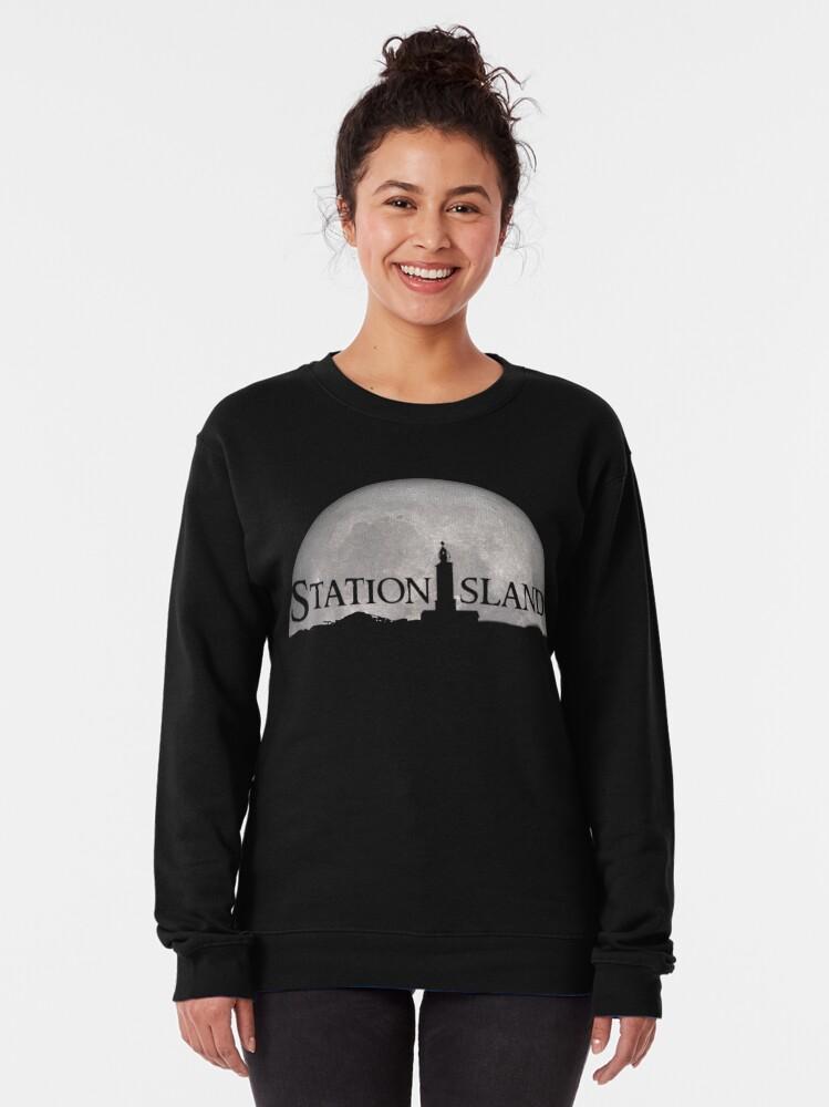 Alternate view of Station Island - Moon Design Pullover Sweatshirt