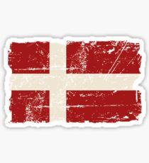 Denmark Flag - Vintage Look Sticker