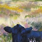 Time For A Nap - Painting of a Dexter Cow by MikeJory