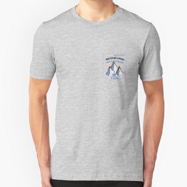usa aspen tshirt by rogers bros Slim Fit T-Shirt