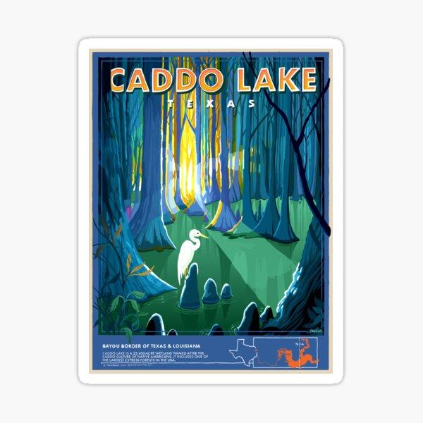 Caddo Lake Texas Travel Poster Sticker