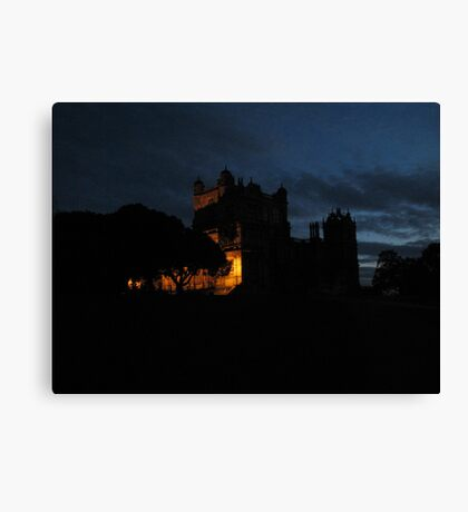 Wollaton  Hall by light Canvas Print