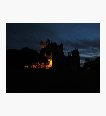 Wollaton  Hall by light Photographic Print