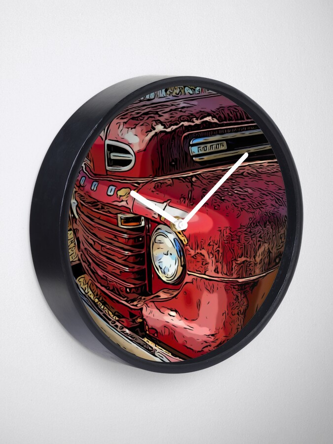 Alternate view of Old Red Truck Clock