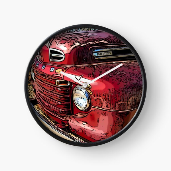 Old Red Truck Clock