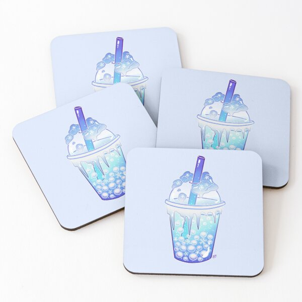 Snowball Bubble Tea Coasters (Set of 4)