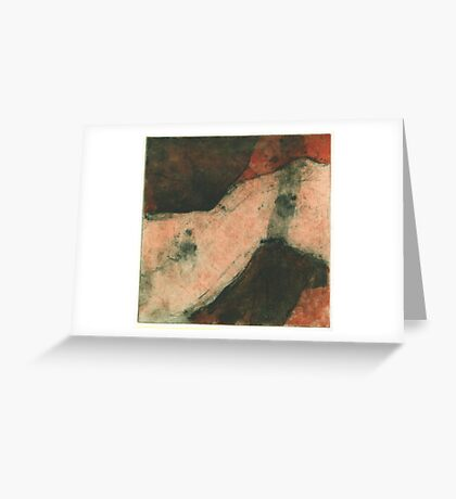 drypoint and collagraph Greeting Card
